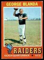 1971 Topps #39 George Blanda HOF Oakland Raiders / Kentucky Wildcats *YOU PICK*