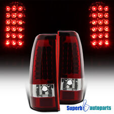 For 2003-2006 Chevy Silverado LED Tail Lights Stop Lamps Red Replacement