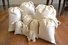 8 x 10 Inches Organic Cotton Double Drawstring Bag - Quantity 100