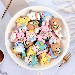 20pc Mixed Resin Cartoon Boy Girl Animal Flatback Buttons for Crafts Decorations