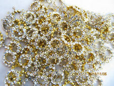 J151 - 36 Swarovski Rhinestone Pendant Ring Components 11mm - Crystal - Sparkly!