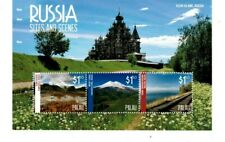 Palau - 2014 - Rossica 2014: Sites and Stamps - Sheet of Three -Mnh