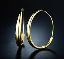 Sevil 18K Gold Plated Round Hoop Earrings