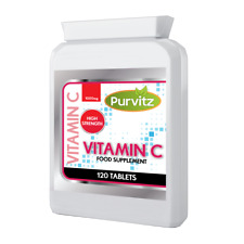 Vitamin C 500MG Tablets Purvitz UK Immune Health Support Foil Pouch