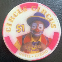 $1 Casino Chip - Circus Circus Casino - Las Vegas, NV - Chipco Issuer 1999