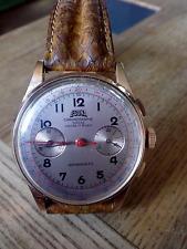 montre egona chronographe suisse or 18 carats