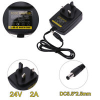 DC24V 2A Adapter AC 100V-240V to DC 24V Converter Power Supply Adapter 5.5*
