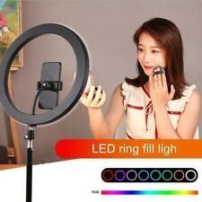 PULUZ LED Ring Fill Light Dimmable Selfie Fill Lamp with Tripod Stand Bracket