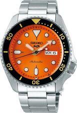 Seiko Herrenuhr SRPD59K1 Automatik Armbanduhr Uhr Orange Gangreserve 41 Stunden