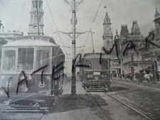 Antique vintage photo postcard King William Street Adelaide old SA post stamps
