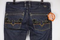 Mens DIESEL Jeans STRAIGHT Relaxed BUTTON YARIK WASH 0088Z W30 L30 DAMAGED P21