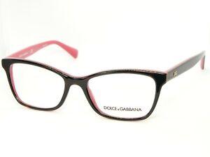 NEW D&G Dolce&Gabbana DG 3245 3004 TOP HAVANA/FUXIA EYEGLASSES GLASSES 52-17-140