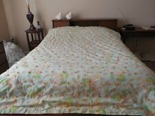 "Vintage 1970's ""LOVE IS"" GIRL & BOY QUILT Handmade & Tied FULL Size COMFORTER"