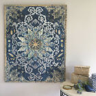 Stunning Dark Blue Wall Canvas/Hand Block Printed/Ready to Hang Wall Art