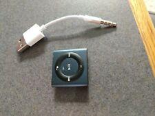 Apple 4th Generation iPod Shuffle 2GB dark blue. Works excellent Model A1373