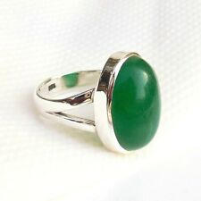 Green Jade Ring Birthstone Green Jade Ring Sterling Silver Ring Size US 6-EB7091