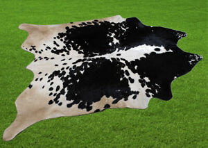 """100% New Cowhide Rugs Area Cow Skin Leather (56"""" x 52"""") Cow hide SA-7423"""