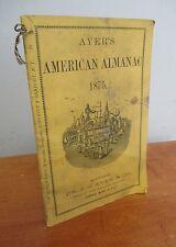 1875 Ayer's AMERICAN ALMANAC