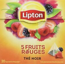 Lipton 5 Red Fruits Teabags   4 Boxes Of 20 (80) Free UK Delivery
