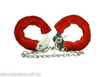 cavigliere manette con catenella catena Manette per caviglie bondage cuffs red