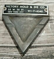 Real Nice Rare Cast Metal Ashtray From Victory Mold & Die Co, New York City