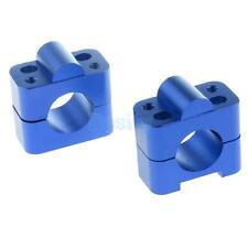 "ATV Quad 28MM 1 1/8"" Handle Bar Protaper Fat Bar Risers Mount Clamp Blue"