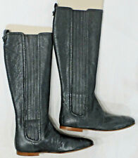 "BALENCIAGA ""Stivale"" Stretch Leather Boots, Blue, Size EU 40 US 9 1/2, NEW"