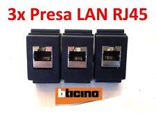 3x PRESA DI RETE DATI LAN BTICINO LIVING CLASSIC RJ45 UTP CAT5