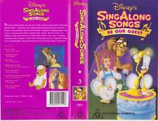 SING ALONG SONGS BE OUR GUEST  NUMBER 3  DISNEY VHS PAL VIDEO A RARE FIND