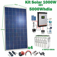 Kit Solaire 48v 1000w Convertisseur 5kva Mppt 60A Hybride Batterie 4TOPzS 458Ah