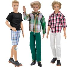 3 Sets Fashion Doll Clothes Casual Wear Jackets Pants Outfit For Barbie Ken K
