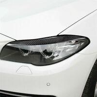 Coppia copri adesivi Copertura sopracciglia faro in fibra carbonio per BMW F10