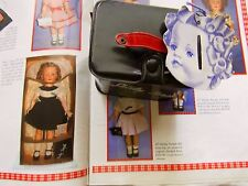 Shirley Temple 1950'S Black Curler Box w/ Curler Tag For Shirley Temple Dolls
