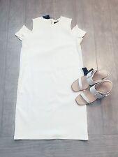 ZARA Women's Dress With Shoulder Cut-out(Off-white, US  L/EUR L )