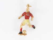 Footballer Charm Vintage 9ct Gold 375 Charms Pendant 2.5g Dg68