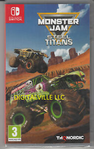 Monster Jam Steel Titans Nintendo Switch Brand New Factory Sealed Trcuk Racing