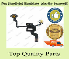 iPhone 4 Power Flex Lock Ribbon On Button - Volume Mute  Replacement UK