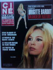 CINÉ-REVUE n°24 - 11 JUIN 1970 -BRIGITTE BARDOT POSTER GÉANT STEVE Mc QUEEN NEUF