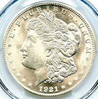 1921-S Morgan Silver Dollar, PCGS MS-66, Blast White, Wonderful Blazer, Pop=133!