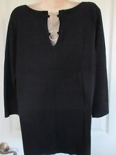 NWT - CABLE & GAUGE ladies Very pretty Black sweater top - sz XL -MSRP $60.00