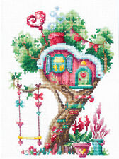 Counted Cross Stitch Kit MAKE YOUR OWN HANDS T-21 - Treehouses. Sweet