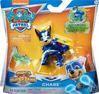 Nickelodeon Paw Patrol Mighty Pups Super Paws Chase Figure / Brand New