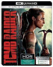 Tomb Raider (STEELBOOK)(4K Blu-ray + Blu-ray 3D + Blu-ray)(Region Free) 2018 NEW