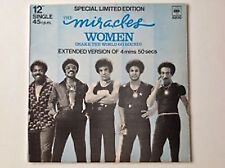 """12"""" Single 45 RPM   THE MIRACLES - WOMEN  CBS5200"""