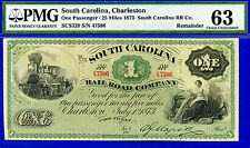 1873 $1 South Carolina Charleston ((SCS320)) PMG Wahl-unc 63 # 47586