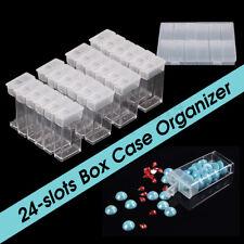 24 Slot Nail Diamond Painting Tool Organizer Case Grid Jewelry Drill Storage box