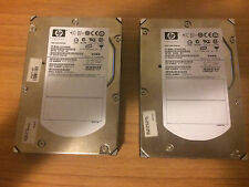 Coppia Hard Disk Hdd 3.5 SAS Hp 73gb 15000 rpm 300gb 10000rpm