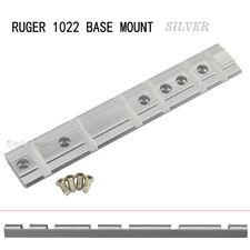 RUGER 1022 10/22 BASE SILVER SCOPE MOUNT