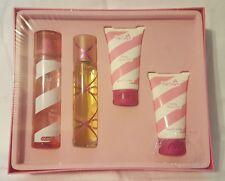 PINK SUGAR 4 Pc Gift Set EDT Spray Shower Gel Hair Perfume Body Lotion