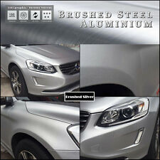 40x152cm Plata Metal Cepillo De Aluminio Adhesivo Vinilo Envolver para los vehículos de muebles